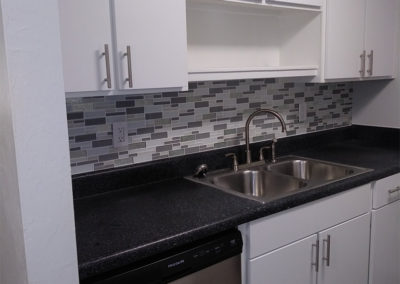 THE PARK Gainesville apartments newly renovated kitchen